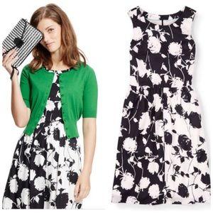 Boden Sylvia Black White Sleeveless Dress WH787